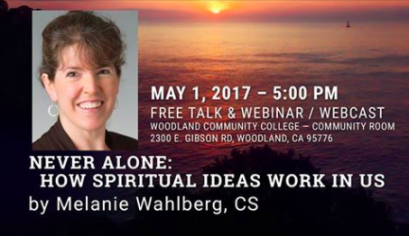 "Healing 101 Lecture Series - ""Never Alone: How Spiritual Ideas Work in Us"" by Melanie Wahlberg @ Woodland Community College 