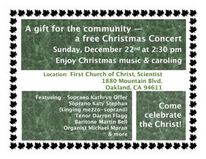 Free Christmas Concert Email Flyer 2019